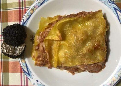Lasagne con tartufo estivo
